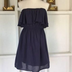 Alythea Strapless Ruffle Summer Dress